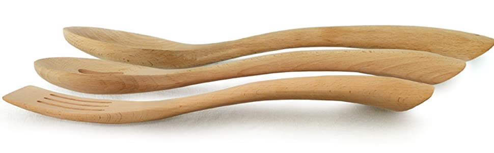 side view spoons and spatulas