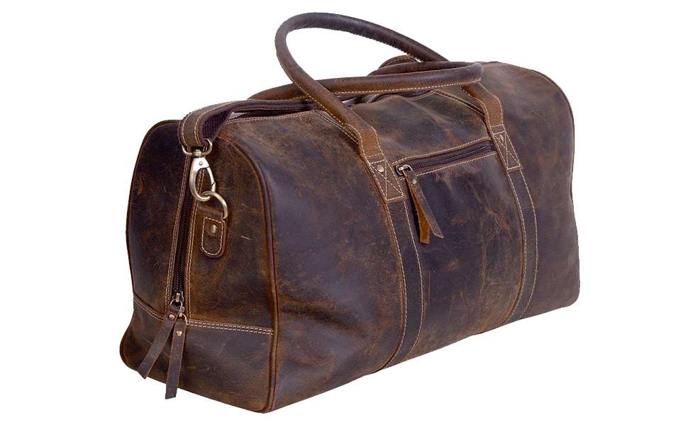 leather duffel komalc