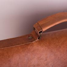 HK 18 Inch Vintage Handmade Leather Messenger Bag for Laptop Briefcase Best Computer Satchel School