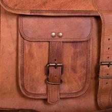 Komals passion leather messenger briefcase bag