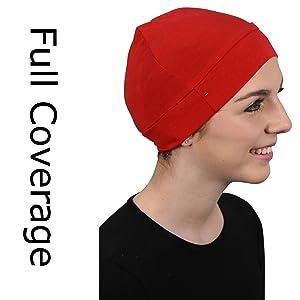 red man Cancer skull scull Cap  Chemo Alopecia Turban Head Wrap  warmer hat