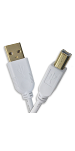 OMNIHIL 15 Feet Long High Speed USB 2.0 Cable Compatible with Trimble Tablet TDI 600 Model N496N
