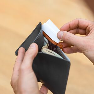 wallet, RFID, Note Sleeve, cards, billfold, easy access, leather, carry, accessories, men's fashion