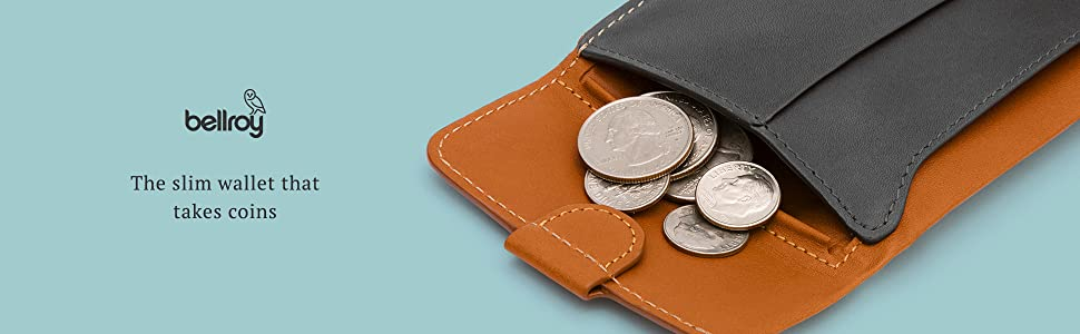 a08bb47e8b Bellroy Leather Coin Fold Wallet Black at Amazon Men's Clothing store:
