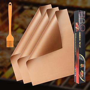 BBQ Grill Mat Copper Set of 3
