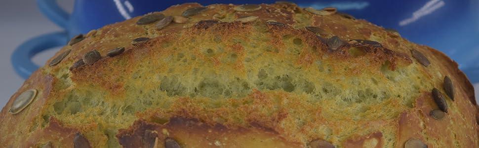 Healthy bread, no preservative, no additive, cucumber bread