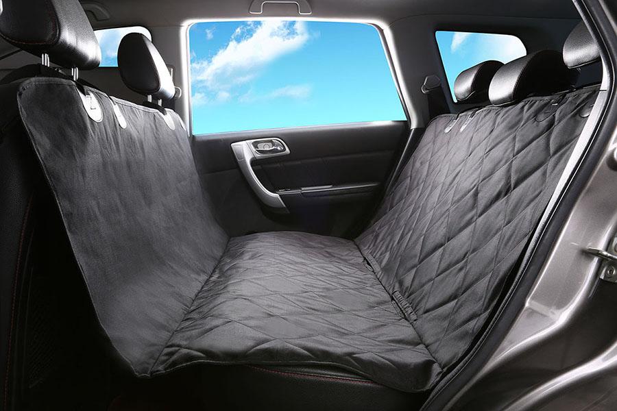 Alfheim Dog Car Seat CoverFor Back SeatBlack Regular Size54 Wide X 58 Length