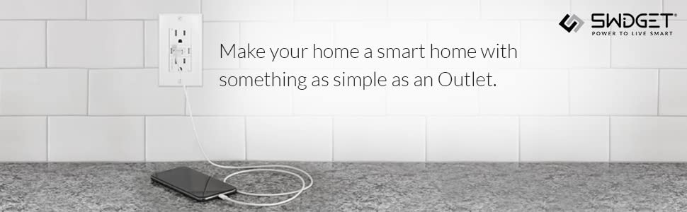 Swidget Z-Wave Power Control Insert Vera and other Z-Wave hubs to make your home a smart home. Wink SmartThings Works with Swidget Outlet