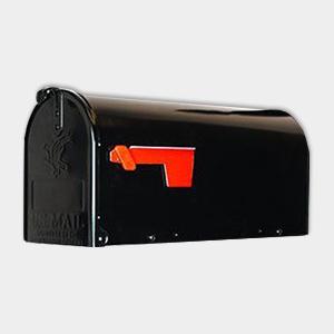 Mailbox Post System Vinyl PVC Plastic White Post with Black Mailbox
