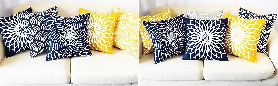 navy decorative pillows