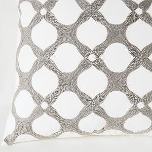 gray decorative pillows 18x18