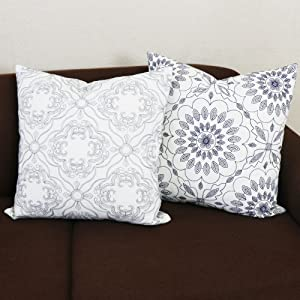 grey throw pillow covers