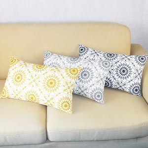 yellow rectangular pillow cover