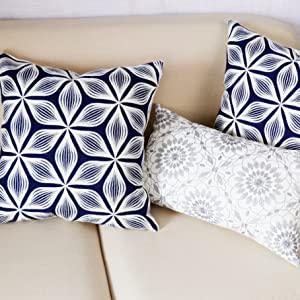 blue pillow covers 18x18
