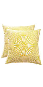yellow velvet pillow covers
