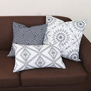 navy pillow covers18x18