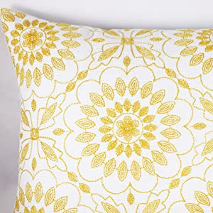 yellow lumbar pillow cover 12x20