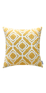 yellow pillow covers