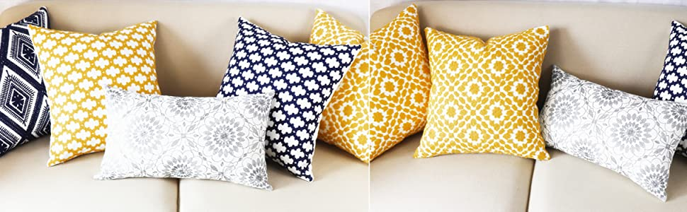 gray grey throw pillow covers