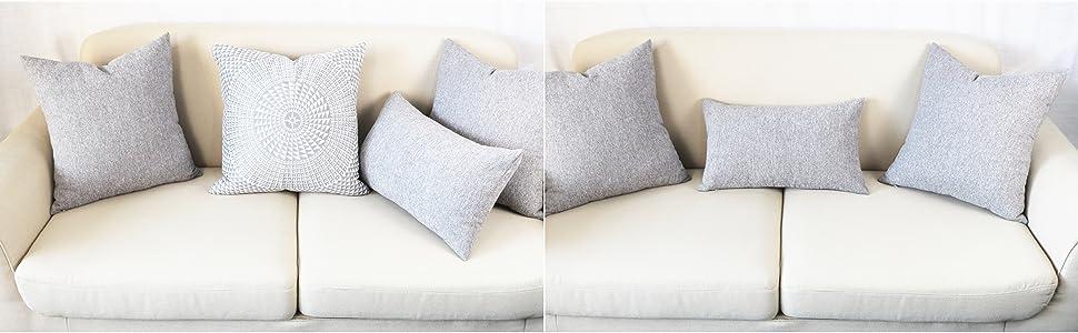 grey lumbar throw pillows