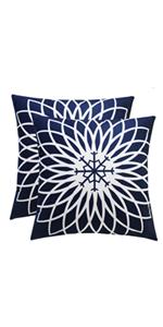 blue velvet throw pillows covers