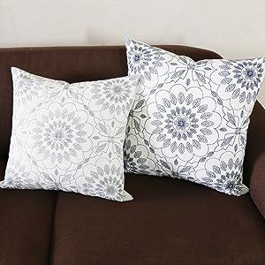 gray cushion covers