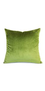 green velvet pillow covers