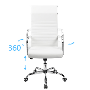 High Back Design With Bulit In Lumbar Support:The Contemporary Office Chair  Ergonomic Back Design. Higher Back And Lumbar Design Offers Long Time  Support ...