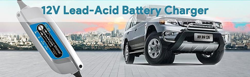 Amazon.com: Cargador de batería de coche de 12 V, cargador ...