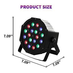 Flashandfocus.com f2079bb5-58b7-4fe2-9d03-abe483eb0f1b.__CR0,0,1600,1600_PT0_SX300_V1___ SUNCOO 4/8/12 Packs 18 LEDs Par Light DMX Uplights LED Stage Lighting RGB Lighting 7 Modes DMX Lighting Controlled Sound…