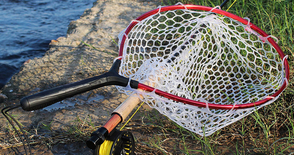 Fly fishing net with aluminum alloy soft for Amazon fishing net