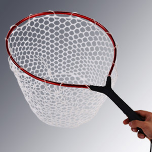 Fly fishing net with aluminum alloy soft for Rubber fishing nets