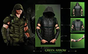The vigilant is seen with the whole new costume in this season. The green hooded leather vest is made of synthetic leather. : the green arrow costume  - Germanpascual.Com
