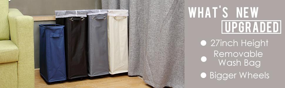caroeas wheeled laundry basket