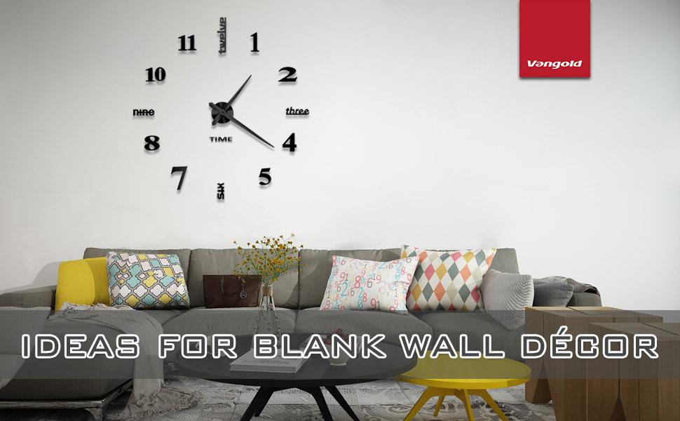 frameless wall clock