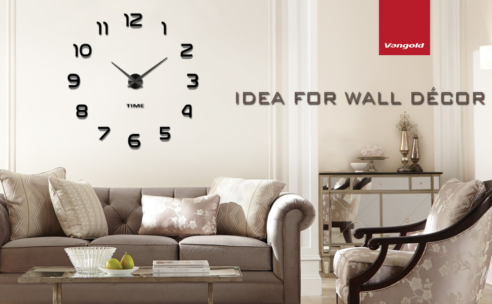 So Our Vangold DIY Large Wall Clocks Have The Simple Style Which Is Easy To Fit In Different Decoration House