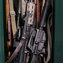 Secure It Gun Storage Agile Model 52 Ultralight Gun Safe: Holds 6 Rifles  and Includes CradleGrid Tech, A Heavy Duty Guns Safe with Keypad Control,
