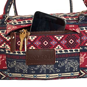 Amazon.com : Kindfolk Yoga Mat Duffle Bag Patterned Canvas