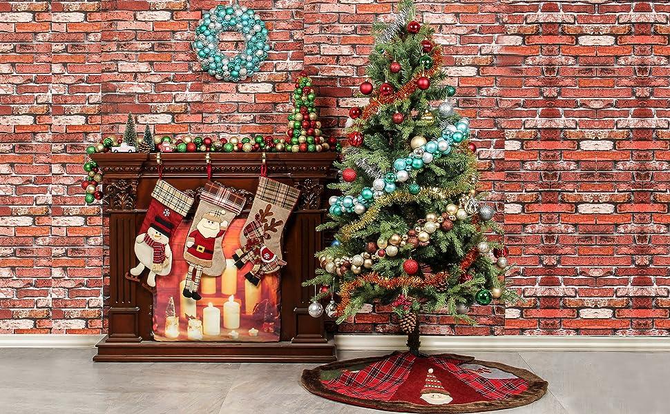 Amazon Com Jusdreen 16 Christmas Wreath Ball Ornaments