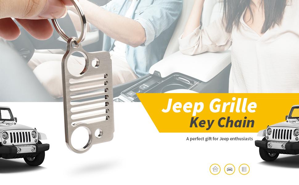 Jeep ORIGINAL Schlüsselanhänger Front aus dem Jeep Shop