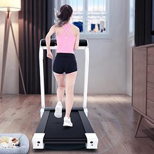 IUBU Fitness Folding Treadmill Touch Screen