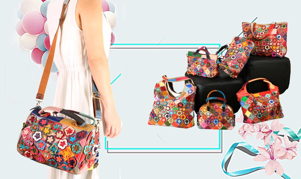Amazon.com: Heshe - Bolso bandolera para mujer con diseño de ...
