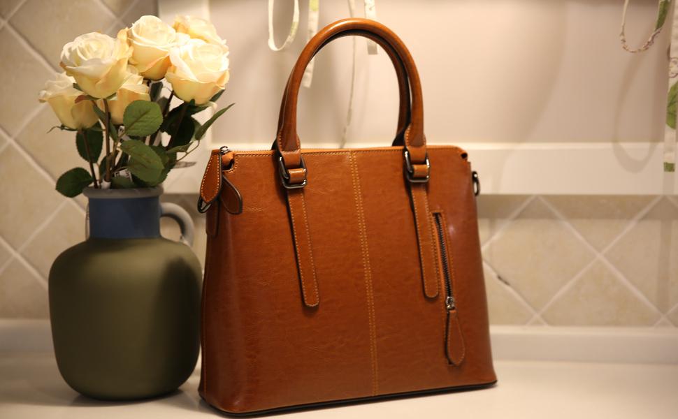 Amazon.com: heshe Mujer y bolso de piel bolsos de hombro ...