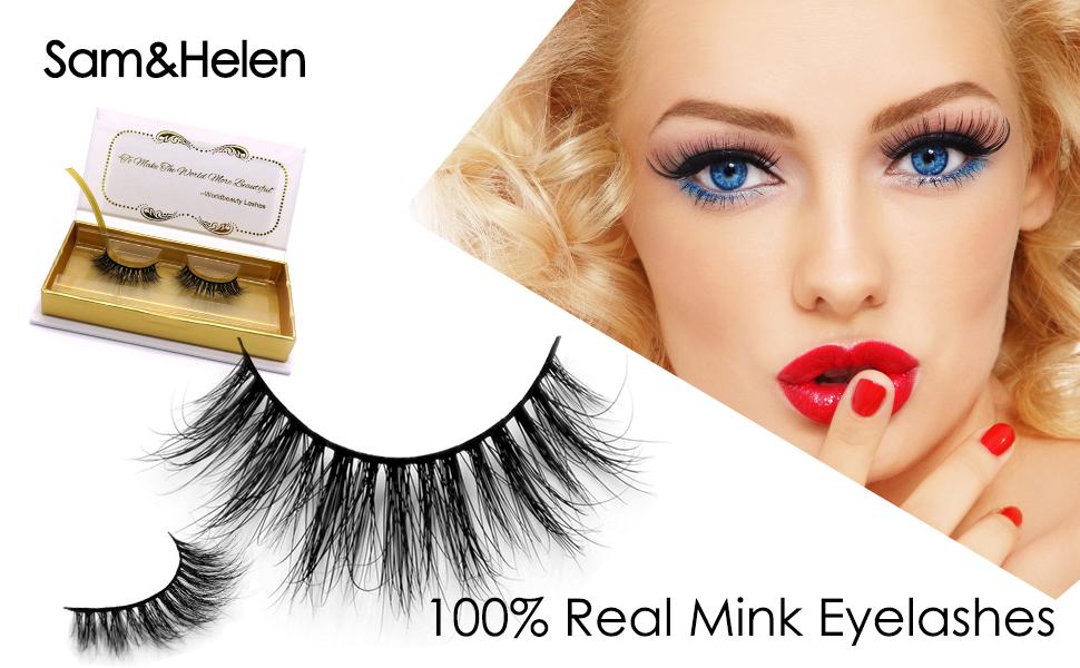 3b1fdcea8e1 3D Real Mink Fur False Eyelashes Reusable Handmade Natural Long Soft Black  Cotton Band D661 for Daily Makeup