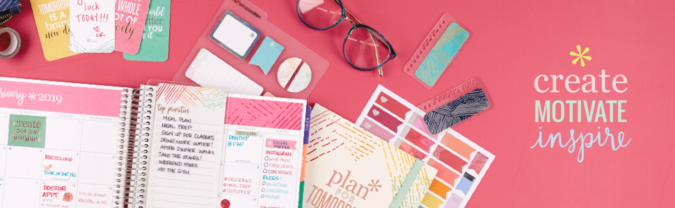 Erin Condren lifeplanner goal, meal and more tracking