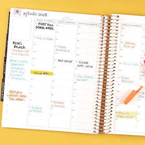 Colorful combinations in daily planners