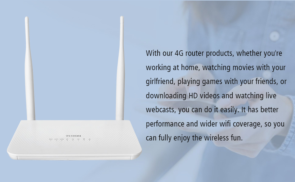 2.4G frequency up to 300Mbps, enjoy surfing the Internet.