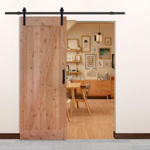 32in 84in solid wood barn door with hardware
