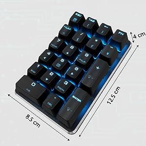 Amazon Com Mechanical Numeric Keypad Gateron Brown Switch