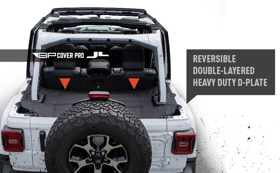 GPCA Wrangler 2018-2019 JL Unlimited Cargo Cover PRO Reversible TOP ON//Topless 4DR JL Sports//Sahara//Freedom//Rubicon Hardtop Hardtop//Softtop